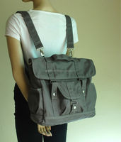 Multi purpose canvas diaper laptop bag on wholesales prices