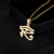 Ancient Egyptian Style The Eye of Horus Pendant Necklace Stainless Steel Jewelry