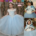 Elegant Cinderella Children s Princess Dress Shawl Cap Piece Dance Parties Costume 080612