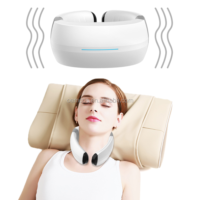 Electric Pulse Far Infrared Cervical Neck Massager Remote control Magnetic Therapy Neck Massage