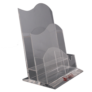 With multi tiers A4 A5 clear acrylic brochure holder