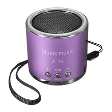 Z12 Red Mini Portable Cylinder Speaker Amplifier FM Music Radio Sound HIFI Support USB Micro Line in for SD TF Card MP3 Player