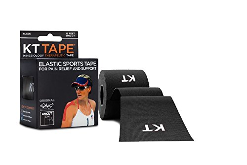 KT TAPE Original Cotton Elastic Kinesiology Therapeutic Sports Tape, 16 ft Uncut Roll, Breathable, Free Videos, Pro & Olympic Choice