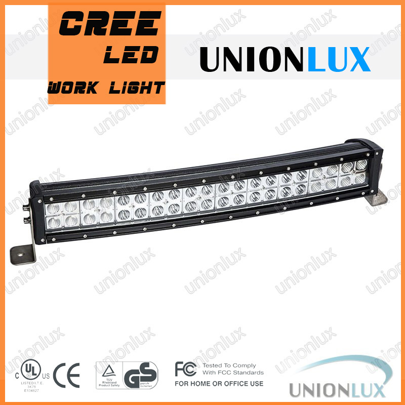 "4x4 offroad waterproof cree 120w 23"" curved led light bar use 3w cree led bar lights for wholesale"