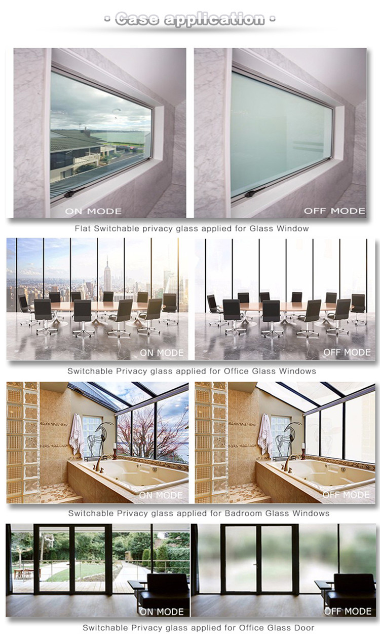 One Way Mirror Glass Film Electric Frosting Glass Shower Smart Glass Office Partitions