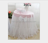 round table organza overlay