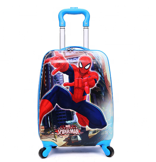 China luggage factory supplies <strong>ABS</strong>+PC18 inch children's cartoon trolley children's travel bag
