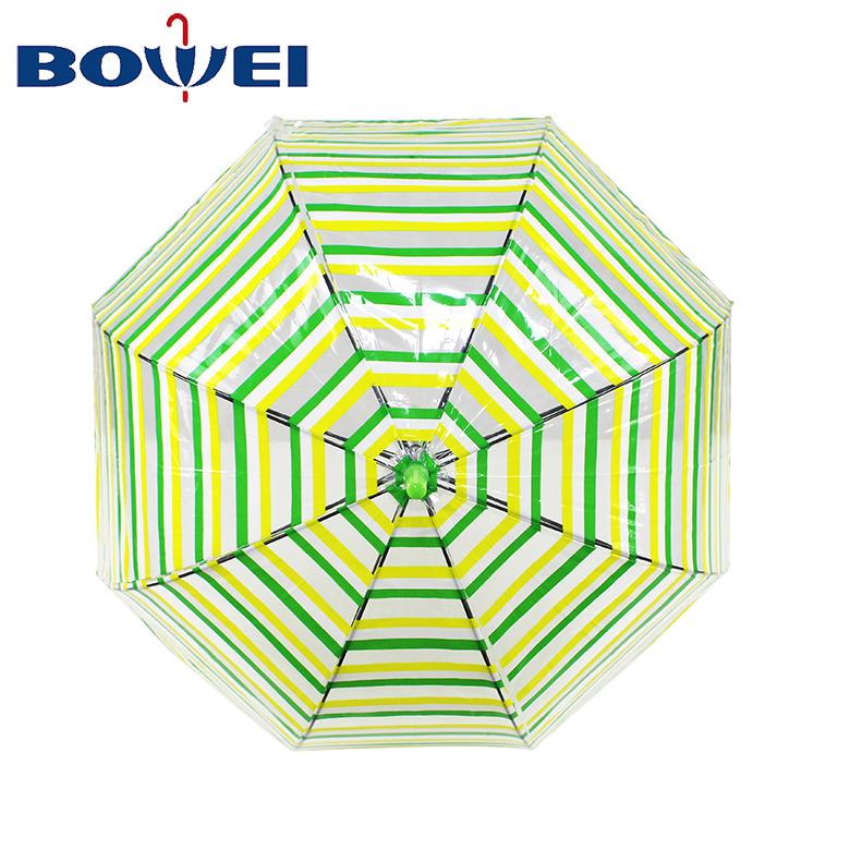 Dome Shape Transparent Umbrella with  printing