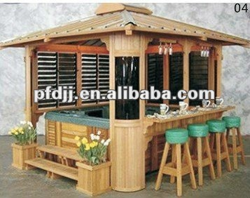 Excellent Quality Deluxe Outdoor Bar Gazebo Wood Garden Decorative Gazebos Product On Alibaba