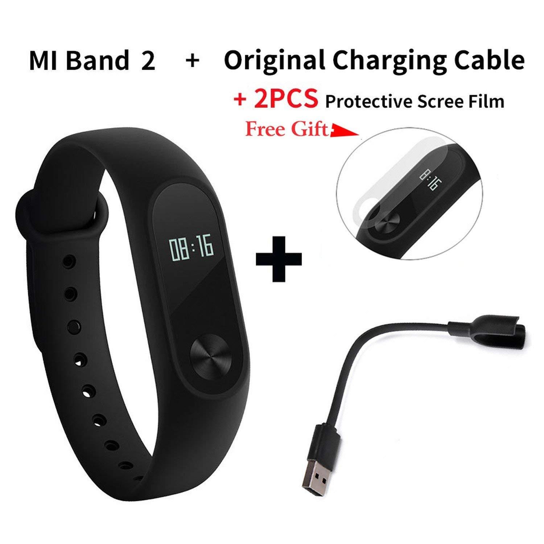 Processes Original Mi Band 2 Smart Fitness Bracelet Watch Wristband Touchpad Sleep Monitor,Add Original Cable