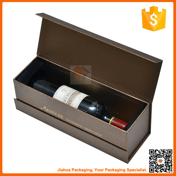high quality custom wne box cardbord wine bottle box