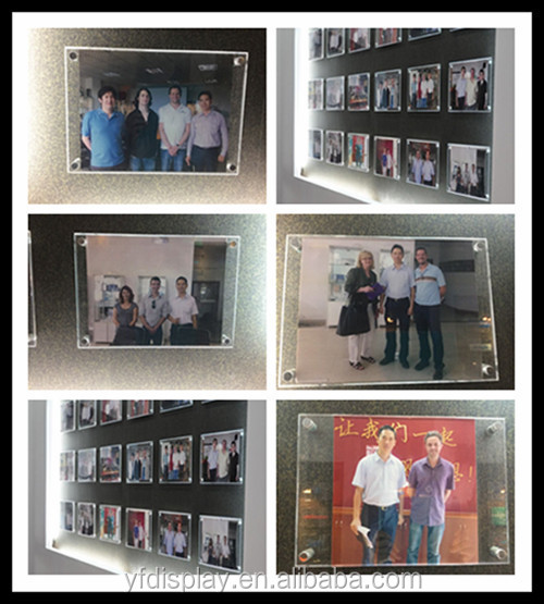 Customized Acrylic Greeting Card Display For Wedding