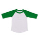 Wholesale 3/4 ruffle sleeves customize kids raglan t shirt boys icing ruffle raglan