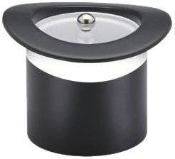 Kraftware Top Hats Black with White 3-Quart Top Hat Ice Bucket with Band and Lucite Cover by Kraftware