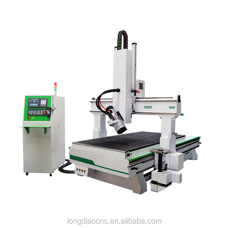 LD1325-ATC 4 Axis Cnc Wood Carving Machine/MDF Board Cutting Cnc Router
