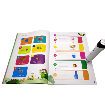 Chinese Children Language Educational English Toys Education Talking Pen Book by Sensor