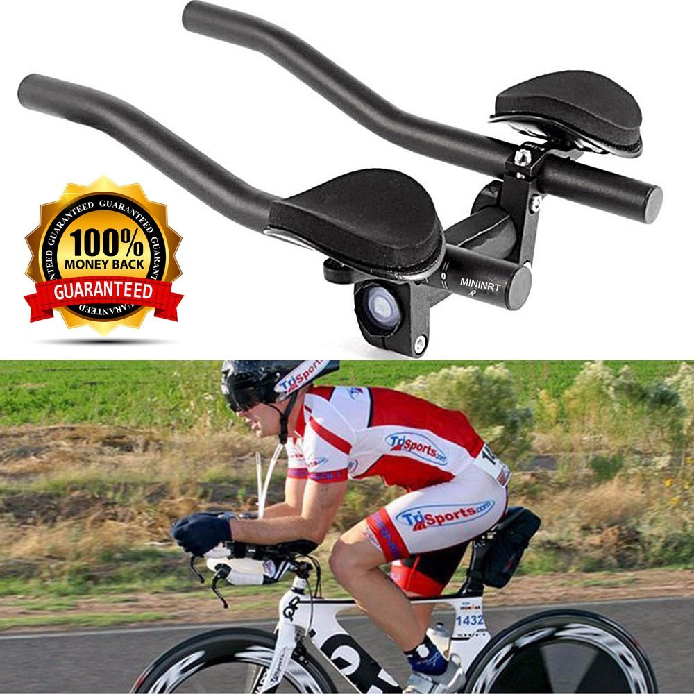 VAQM Bike Aero Bars Cycling Aero Bars Bike Rest Handlebar Bicycle TT Handlebar Bike Tri Bars Mountain Bike Road Bike