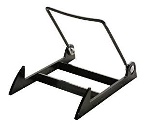 "12 Gibson Holders 2PLBB Adjustable Wire & Acrylic Easels- 4"" W x 4.75"" H with 4.5"" ledge, Black by Gibson Holders"