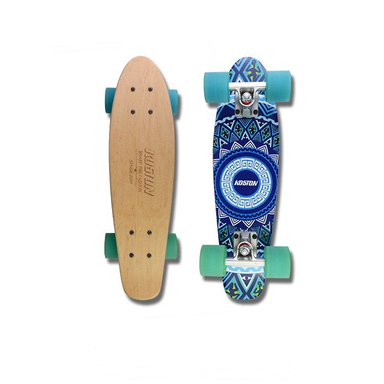 KOSTON best selling mini Cruiser skate de rua montado com rodas de PU transparente