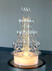 Acrylic water bubble light champagne display stand wedding decoration