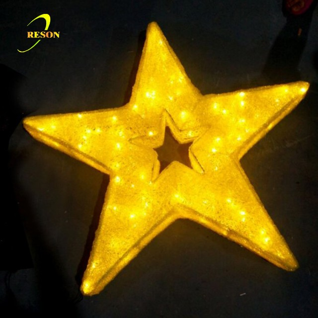 Christmas ornament LED acrylic star decoration light