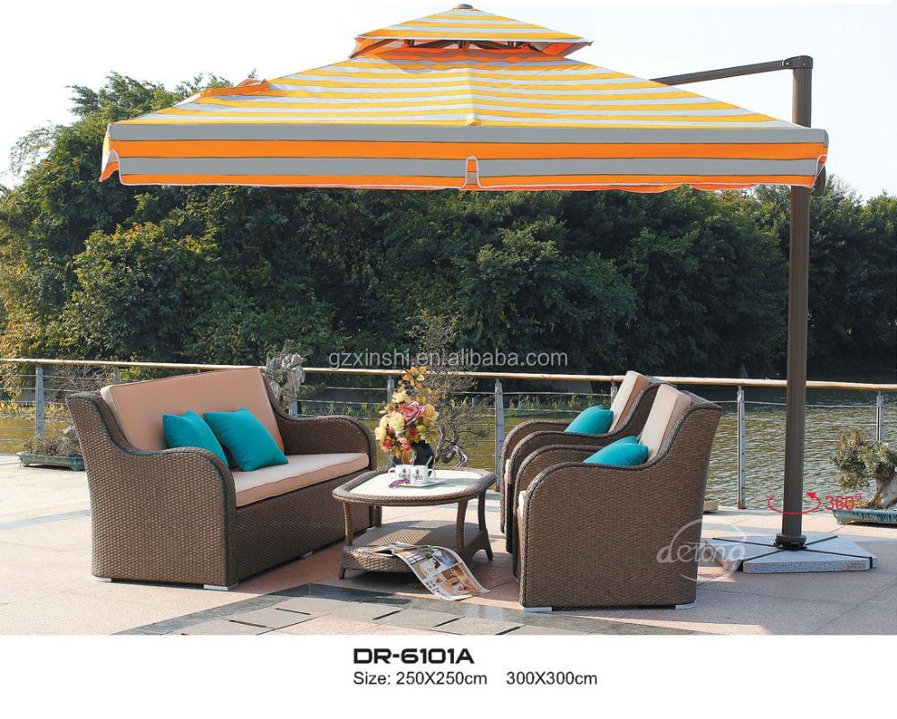 Outdoor Furniture Tulip Umbrella Outdoor Decorative Sun Umbrella Waterproof  Patio Decoration LED Tulip Umbrella
