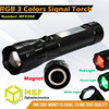 High Lumens Color changing led railway signal light torch