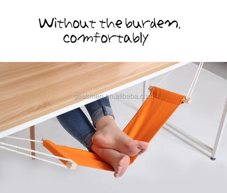 FUUT Desk Feet Hammock Foot Care Tool The Foot Hammock - <strong>Orange</strong>