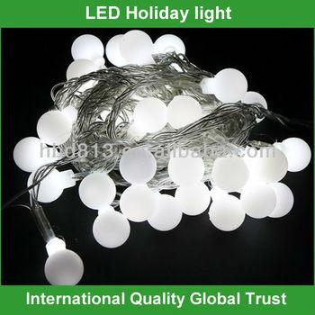 Wholesale Led Round Ball Christmas Lights White Ball String