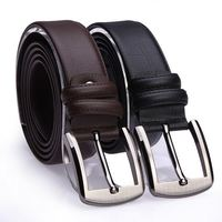 Wholesale Fashion Casual Adjustable Alloy Buckle genuine leather belt for man