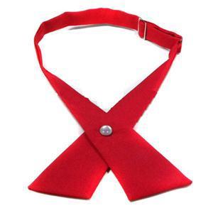 Мода регулируемая крест галстук мужской галстук сплошной цвет крест галстук бесплатная доставка женская и мужская