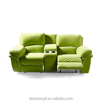 Modern Italian Soft Sofa Furniture Green Fabric Home Theater