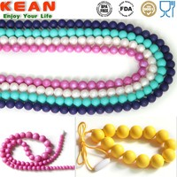 Custom design bpa free silicone black rubber necklace cord