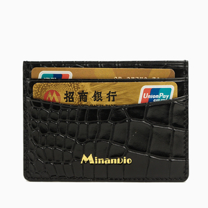 MINANDIO Classic & business style cardholder for men/ Customized credit carad holder/ leather id card holder