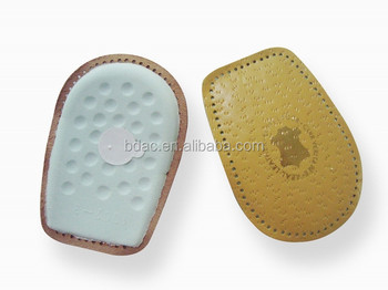 soft Latex leather heel cushion shoe pads leather insoles for shoes