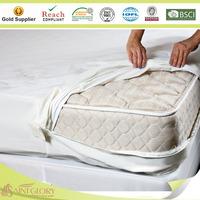 Hypoallergenic Waterproof Bed Bug Zippered Mattress Cover Encasement