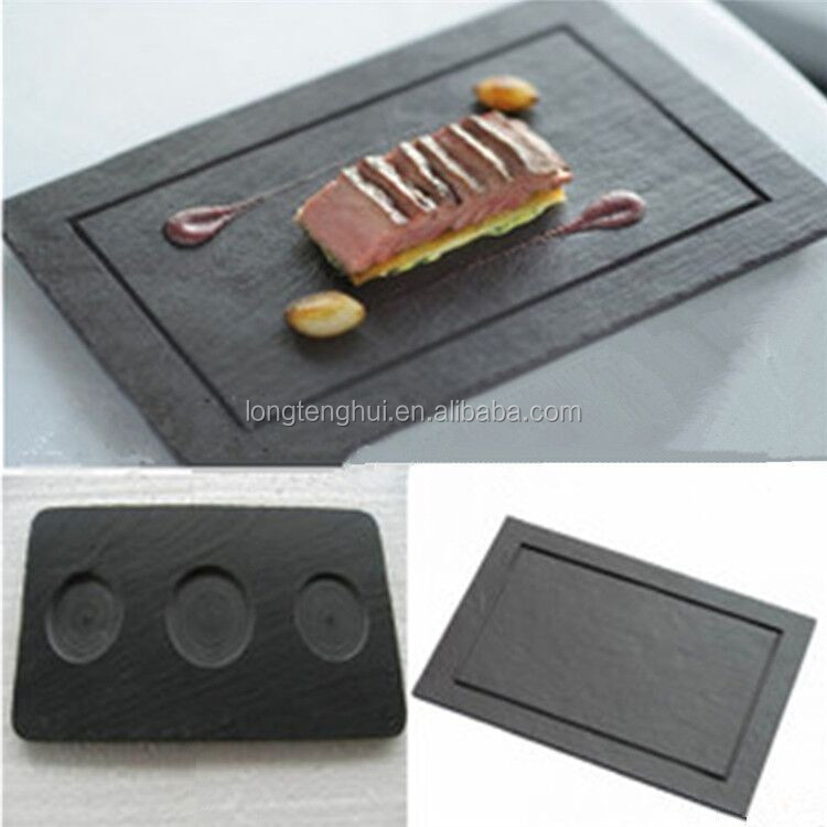 Popular Black Serving Dishes Natural Stone Slate Cheese Board