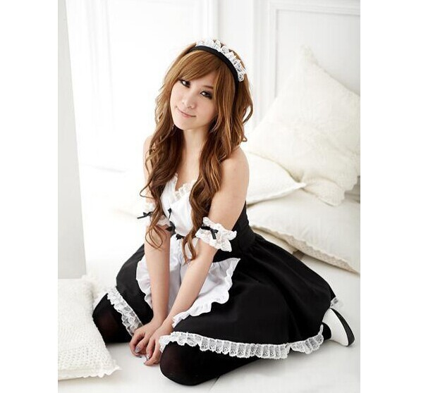 sexy lingerie women, 2014 new solid Japanese maid outfit sexy uniforms temptation role-playing game equipment