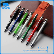 Customized promotional LED light pen with logo print high quality advertising promotion click function metal light pen