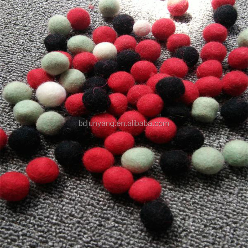 Fabulous small christmas decorative ball felt ball garland rug nepal wool balls