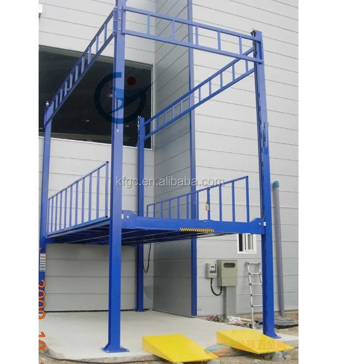 Parking equipment hydraulic 4 post car lifts elevator china