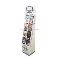 Magazine book Corrugated Cardboard Floor Display/mugs cardboard display racks