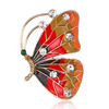 16BC216 Rinhoo jewelry women fashionable colorful printed butterfly brooch pins luxury custom rhinestone brooch jewelry for gift