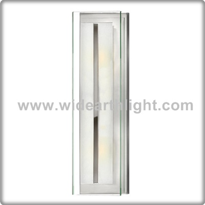 UL CUL Listed Contemporary Chrome Clear Glass Cover Hotel Bathroom Vanity Mirror Lighting W81212