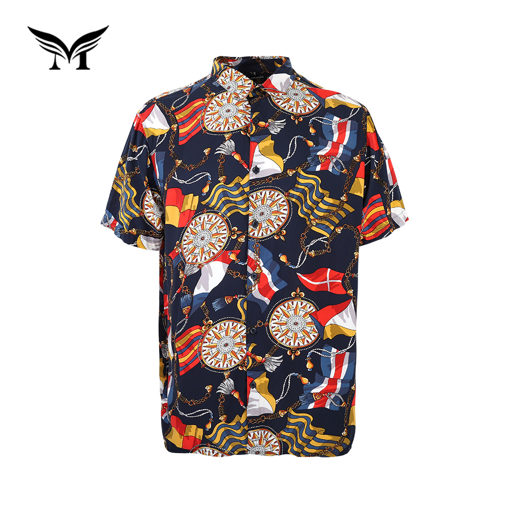 China groothandel fancy comfortabele Hawaiian strand dashiki afrikaanse print shirt mannen