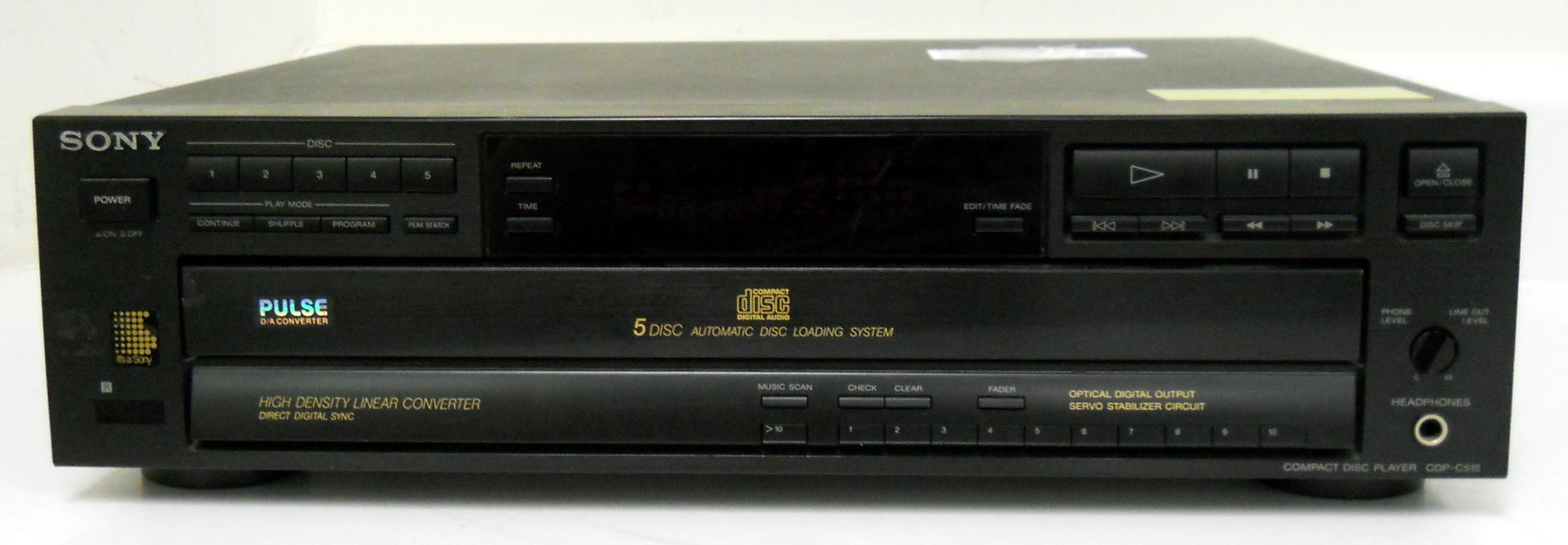 Sony CDP-C515 Compact Disc Player CD 5 Disc Changer Automatic Disc Loading System