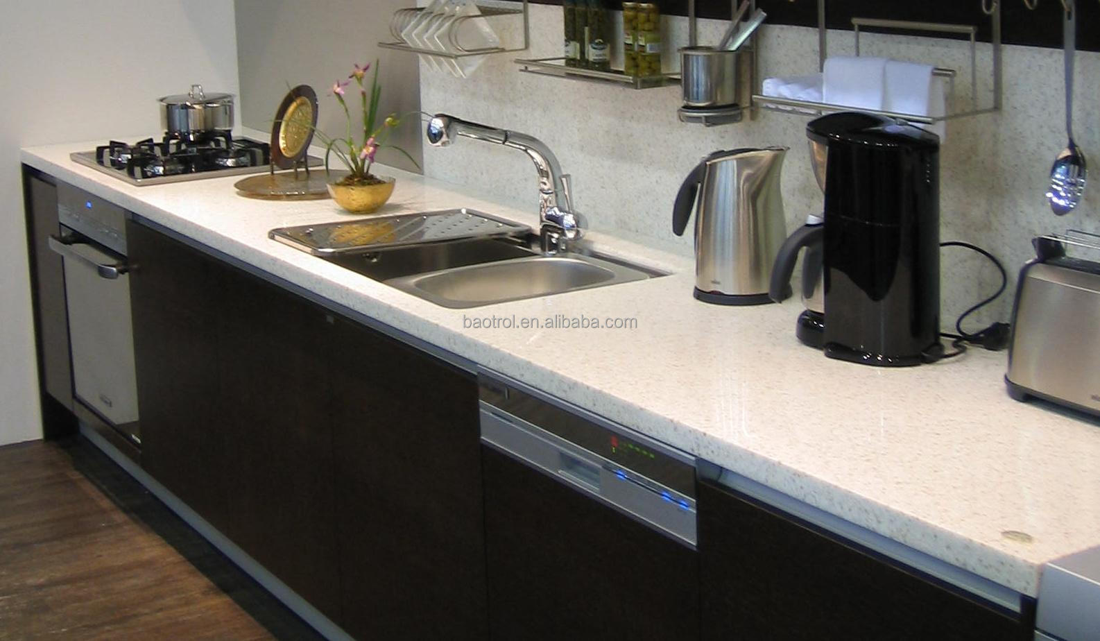 Composite Marble Kitchen Cabinet Table Top Design   Buy ...