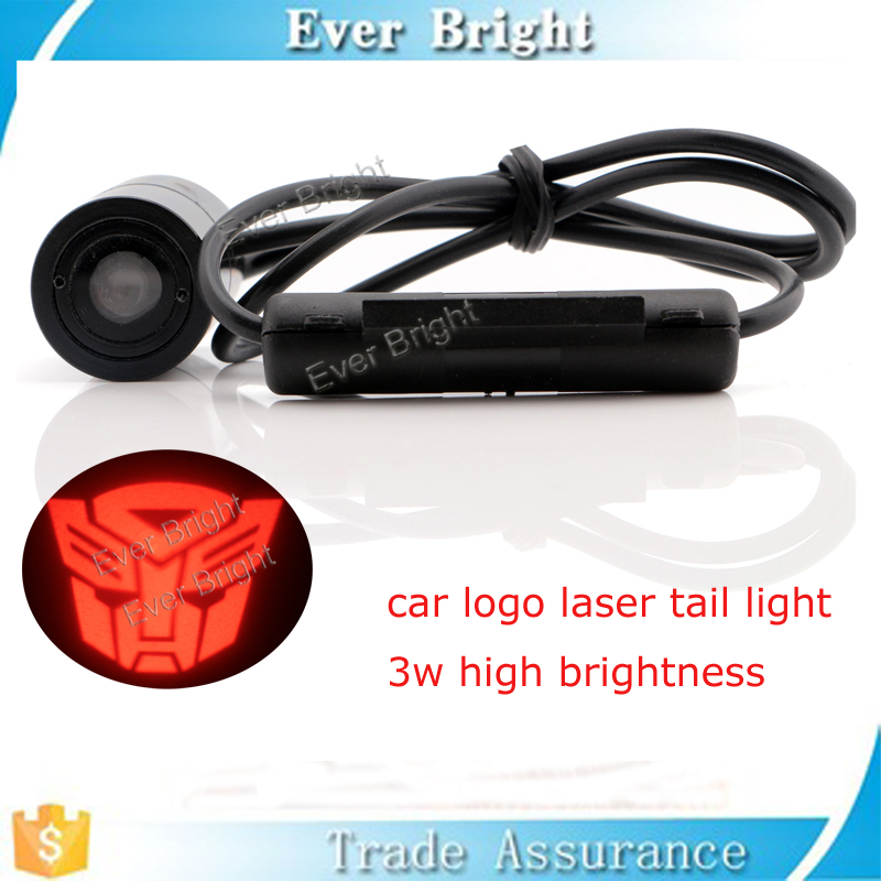 Customized logo Led Car Tail logo lamp Projector Shadow laser Fog license Lights
