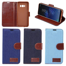 Fast Delivery Fashion Jeans PU Leather Case for Galaxy S8, for Galaxy S8 Case