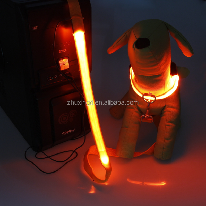 Dog Collar Light Up For Pet, Luminous Dog Collar, Rechargable fibre LED pet collars